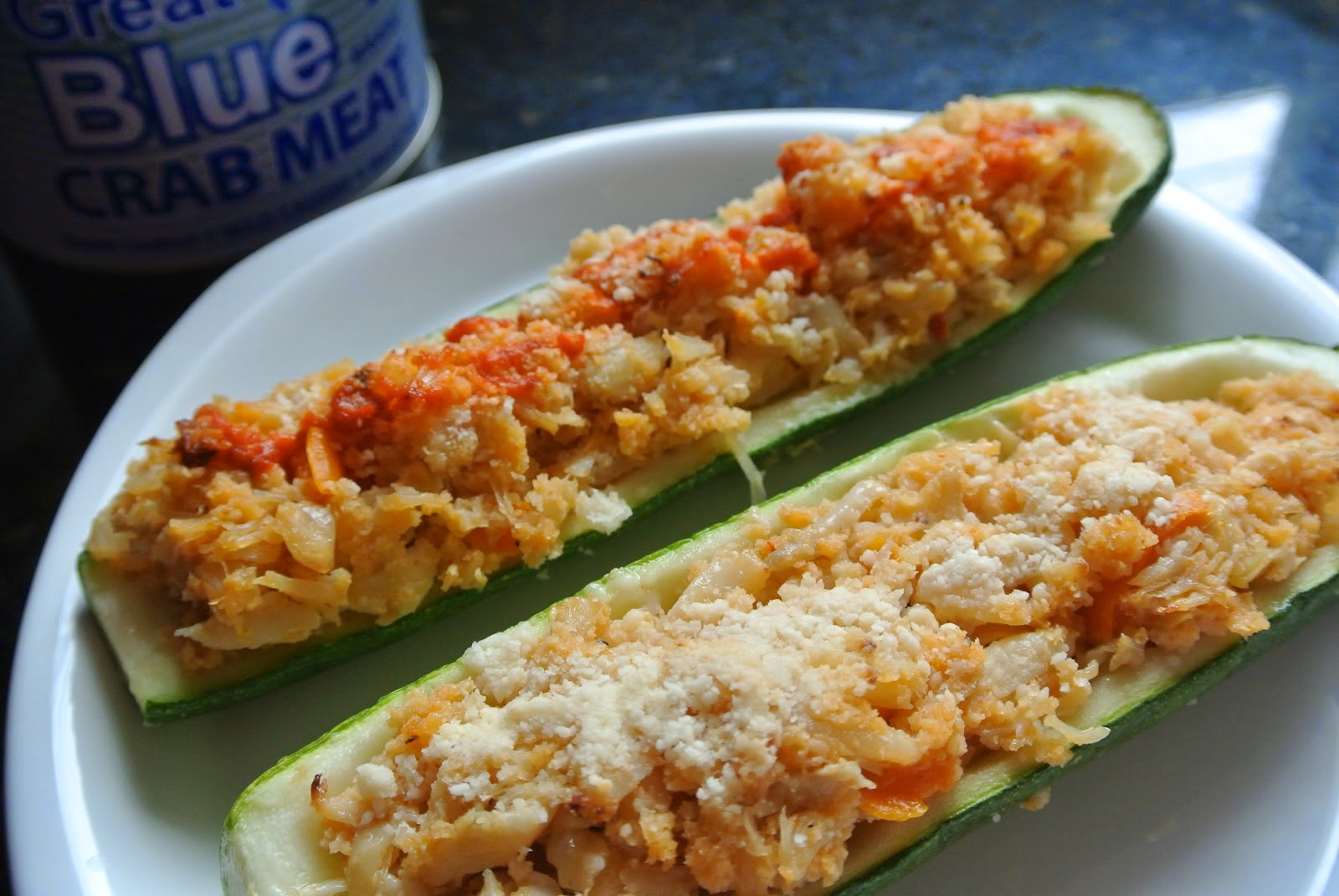 Crab Stuffed Zucchini Boats