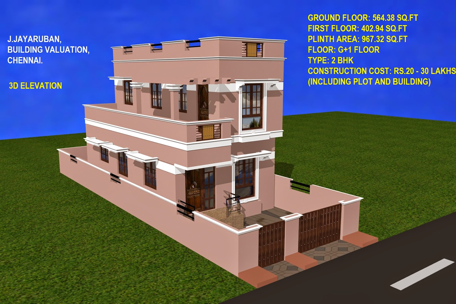 Ground And First Floor Elevation : Pin building elevation gharexpert on pinterest