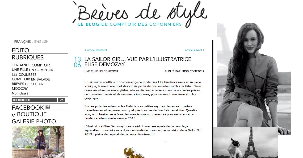 Elise demozay comptoir des cotonniers moi - Le comptoir des cotoniers ...
