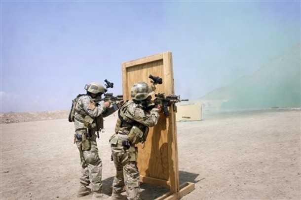 Indian Army Special Forces Training Afghan special forces stand on