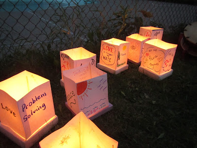 Hiroshima Day Kingston Peace Lantern Ceremony glowing lanterns