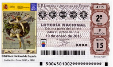 Detalle de los décimos para el sorteo de hoy en la Lotería Nacional