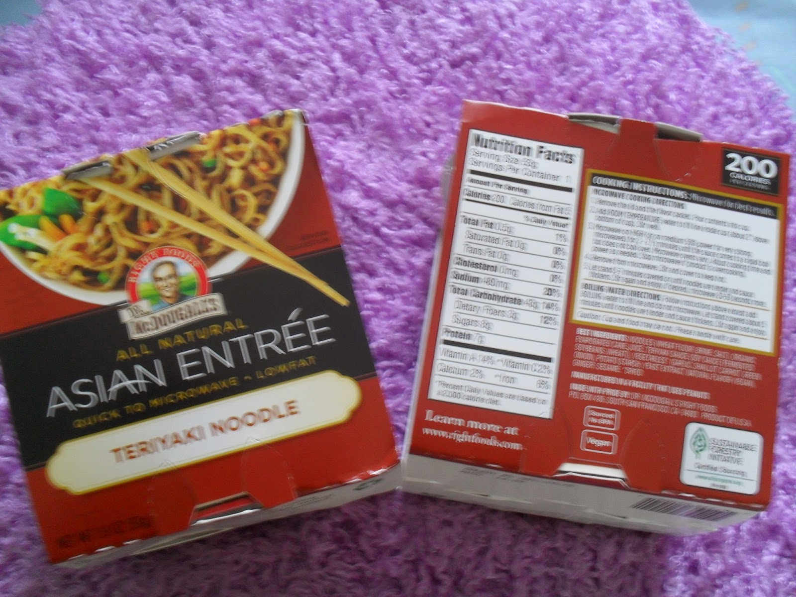 Dr. McDougall's, Asian Entree, Teriyaki Noodle