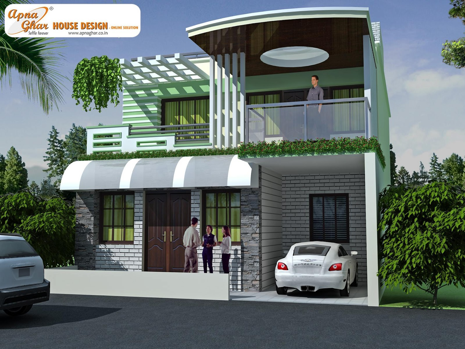 Front Elevation Designs For Duplex Houses : Front elevation of duplex house joy studio design