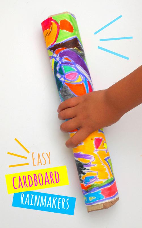 Easiest Cardboard Rainmakers Ever Pink Stripey Socks