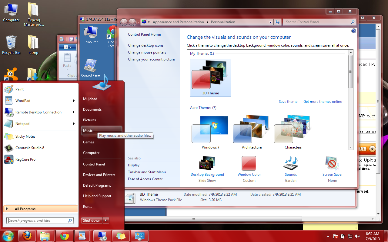 windows 7 themes free download for windows 7 3d