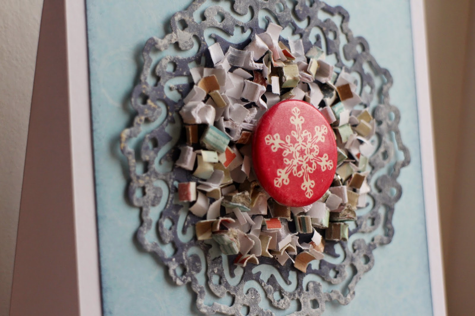 New Year Christmas snow card CAS Clean and Simple scrapbooking скрапбукинг открытка Новый год Рождество снег снежинка hamster-sensey