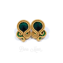 niewielkie zielono złote sztyfty sutasz emerald