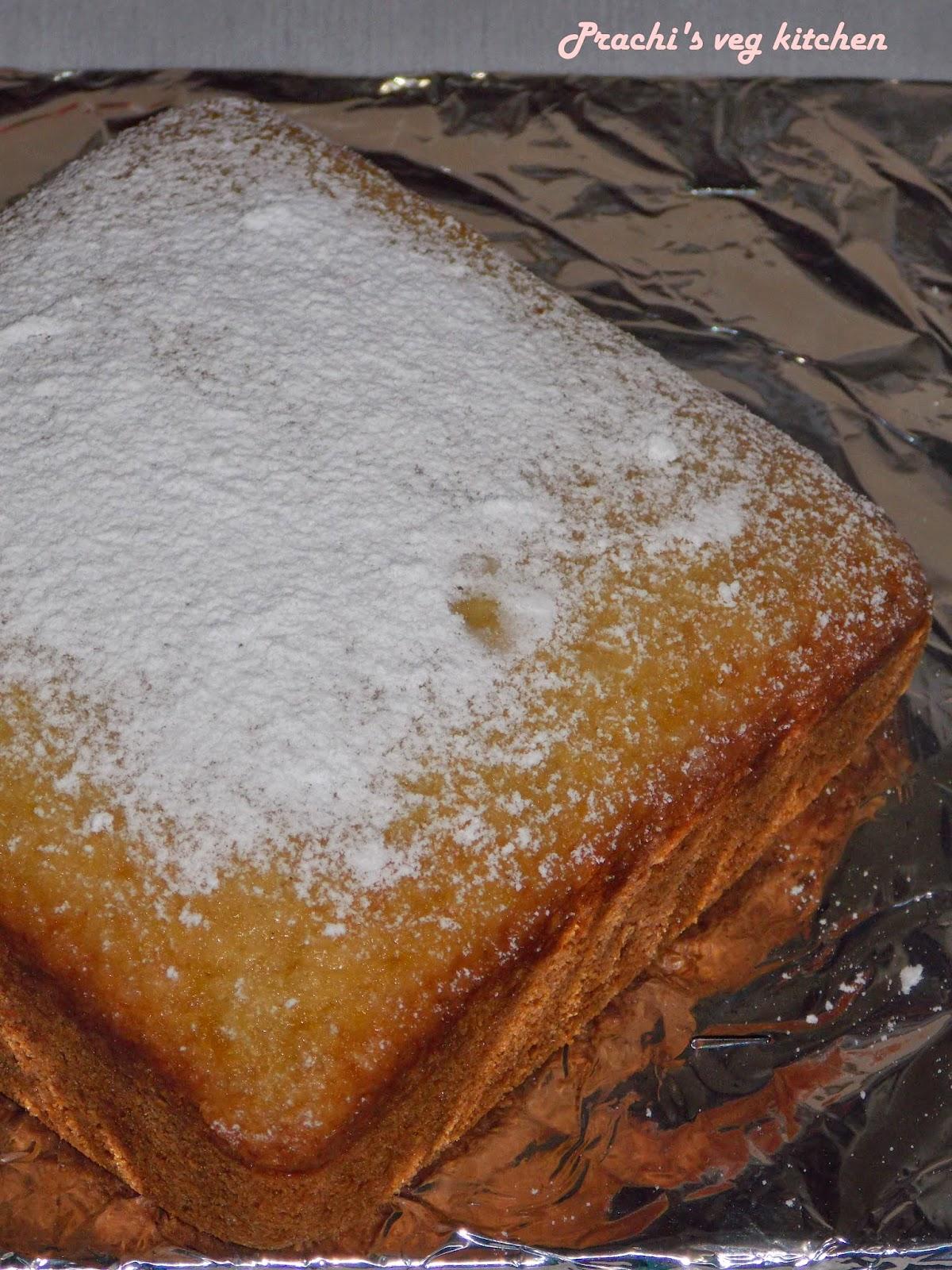 Prachi S Veg Kitchen Eggless Coconut Lemon Cake No Butter
