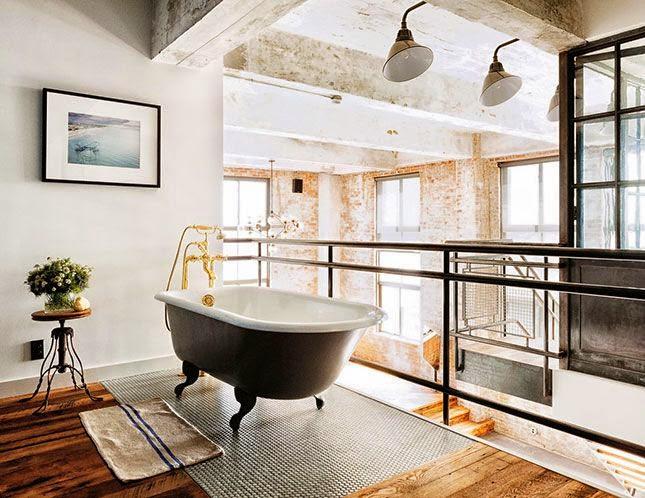 Bañeras en casa - Bañera en loft