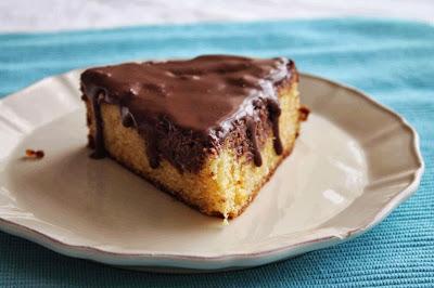 Receta Bizcocho de naranja_receta glaseado de chocolate