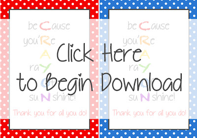 Crayon Monogram Tutorial with Free Printable Card #TeacherAppreciation