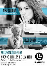 Presentación de  nuevos libros de Editorial Llantén: Nika Turbiná e Hilde Domin