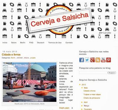 Novo design do blog Cerveja e Salsicha