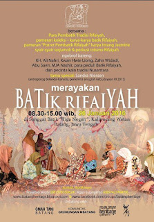 EVENT : 26 Januari 2016 | Batang Heritage, Merayakan Batik Rifaiyah