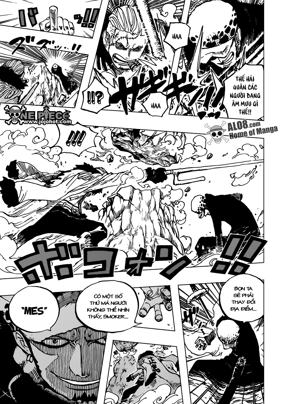 One Piece Chapter 662: Thất Vũ Hải Law vs. Phó Đô Đốc Smoker 017