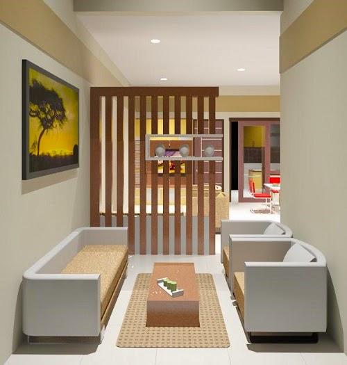 Gambar 001 Desain Ruang Tamu Rumah Minimalis TERBARU