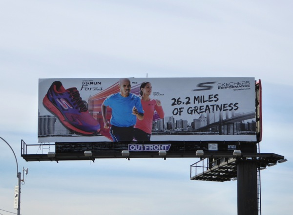 Skechers Performance 26.2 miles of greatness billboard NYC