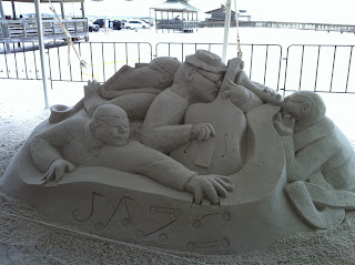 "Impressive ""Jazz"" Sand Sculpture at Navarre Beach"