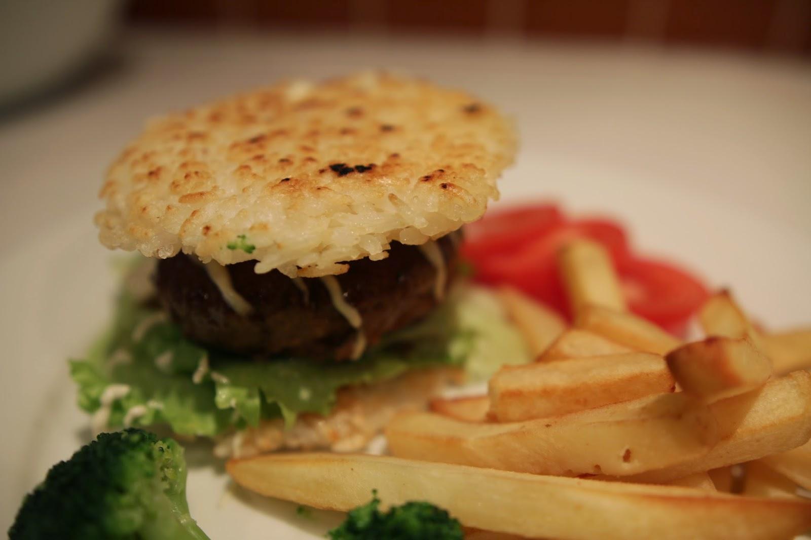 Gluten-free rice burger