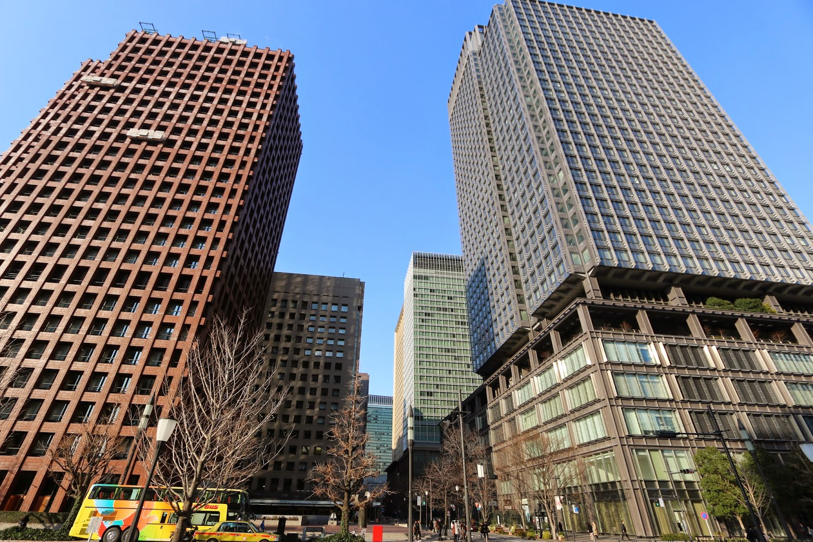 Modern skyscrapers at Marunouchi business district, close to Tokyo Station and Imperial Palace in Tokyo, Japan