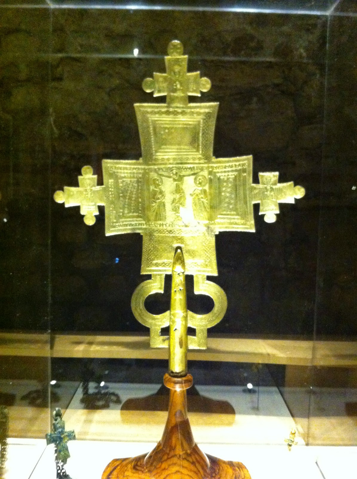 Croix processionnelle, Abyssinie, 14e siècle, Florence, Bargello