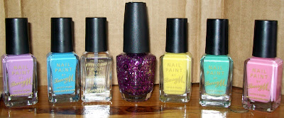 Nail Varnish, Nail Polish, Nail Paint, OPI, Devine Swine, Barry M, Berry Ice Cream, Blueberry Ice Cream, Lemon Ice Cream, Mint Green, Strawberry Ice Cream, Clear 3in1 Top coat, hardener, base coat