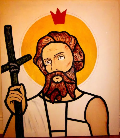 JESUS WITH RED CROWN
