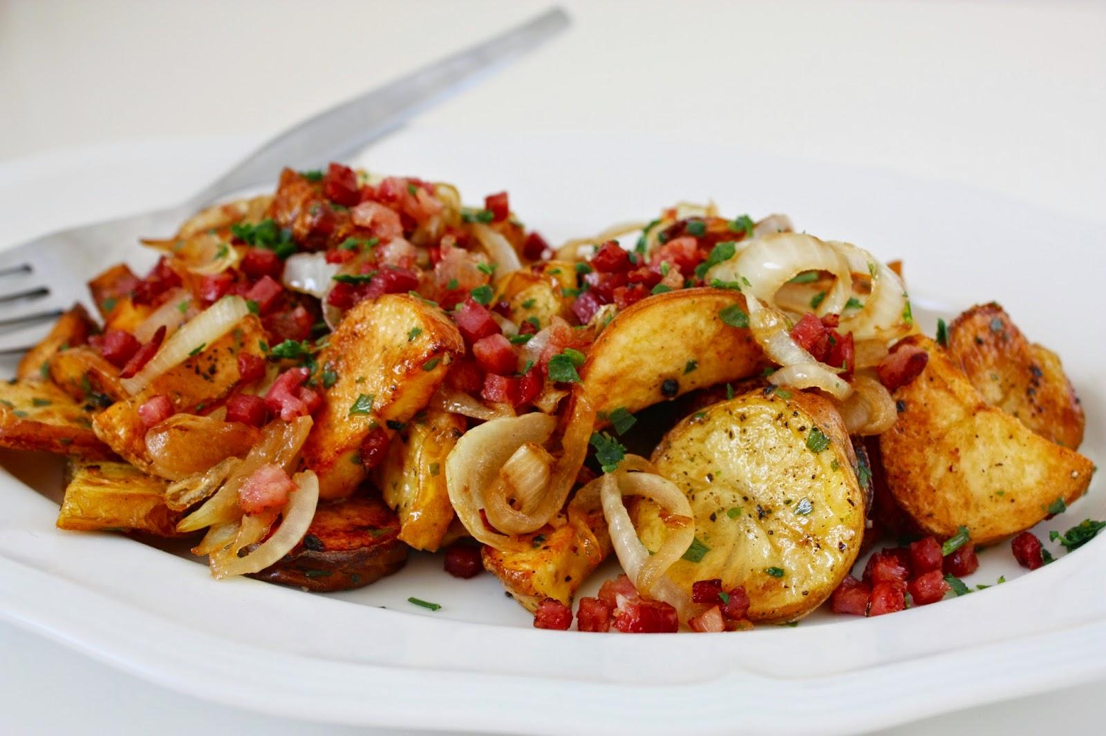 Kartoffelsalat mit Bacon-Vinaigrette