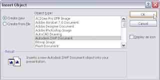 إدراج ملفات الاوتوكاد في برامج MS Word و PowerPoint Image4
