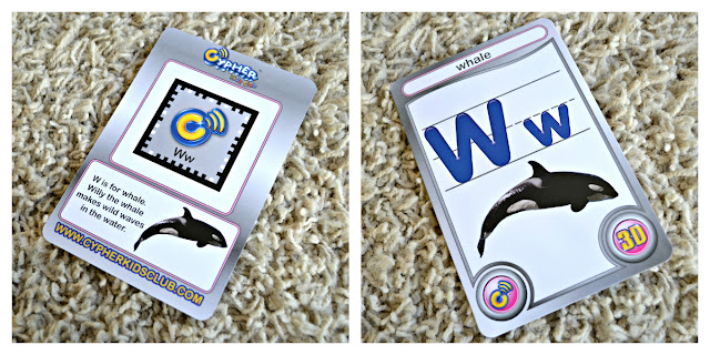 Cypher kids letter augmented reality card front and back #CypherKidsClub