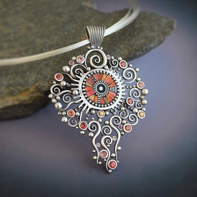 Metal And Polymer Clay Art Jewelry By Lizards Jewelry