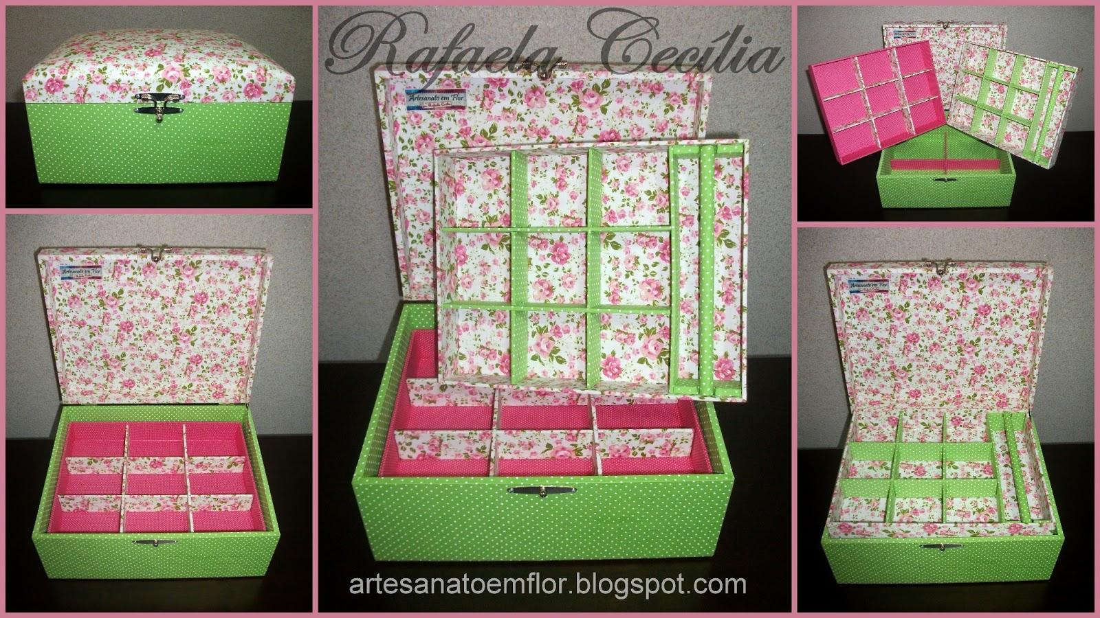 Artesanato em Flor: Porta jóias grande: verde e rosa #9F2C4D 1600x900
