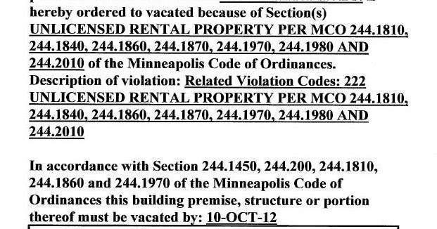 Minneapolis Rental Property License