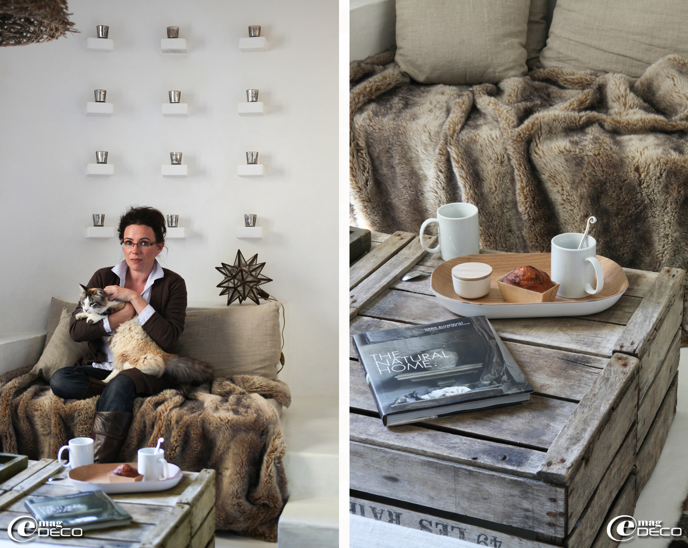 Salon blanc cocooning: le salon la cerise sur la décÔ. photo deco ...