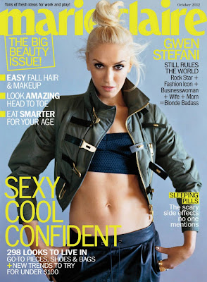 Gwen Stefani Marie Claire US Covers October 2012 - Beautiful Female Photos