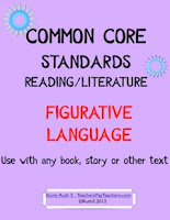 photo of Common Core Figurative Language Student Worksheets, PDF, Ruth S. teacherspayteachers.com
