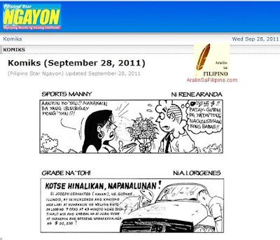 Bahagi ng Pahayagan Dyaryo KATATAWANAN PANLIBANGAN Showbiz News Jokes