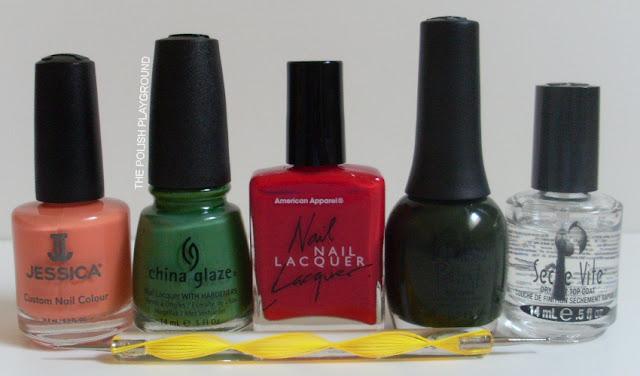 Jessica, China Glaze, American Apparel, Finger Paints, Seche Vite, dotting tool