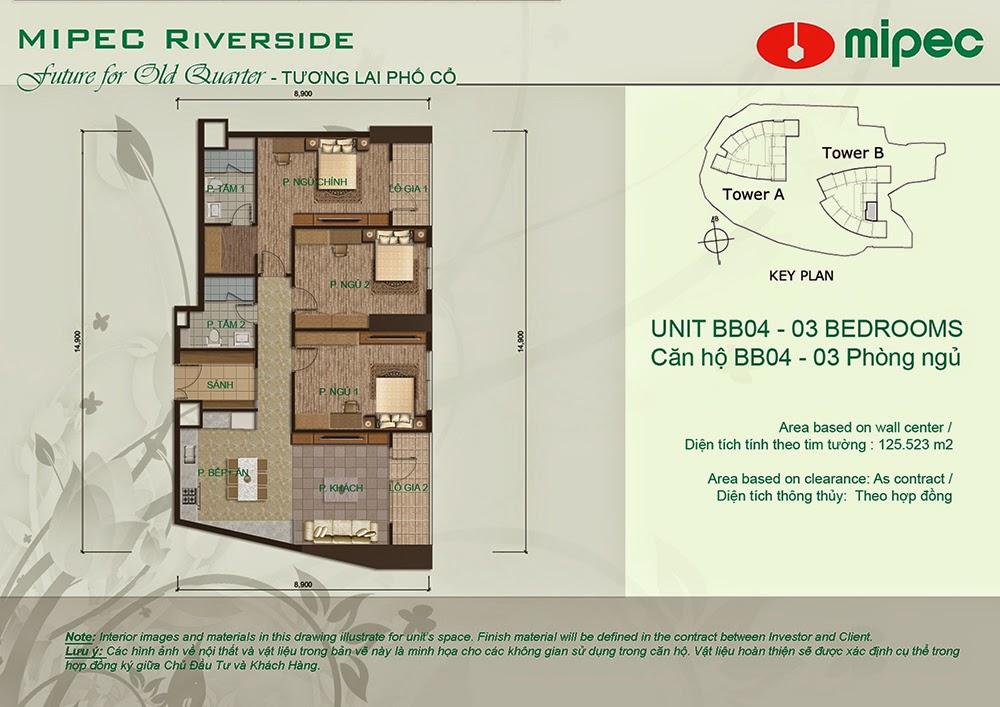 Căn BB04 cư xá Mipec Riverside
