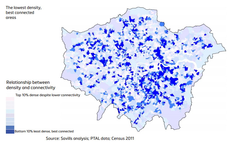 Where could London build more housing? The city's population density black holes, mapped