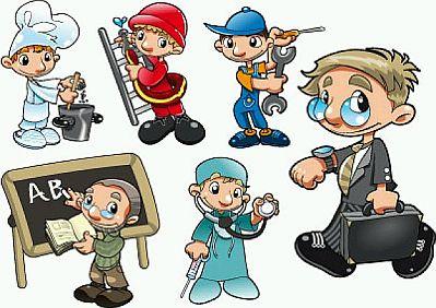 Dibujos animados adultos trabajos de mano
