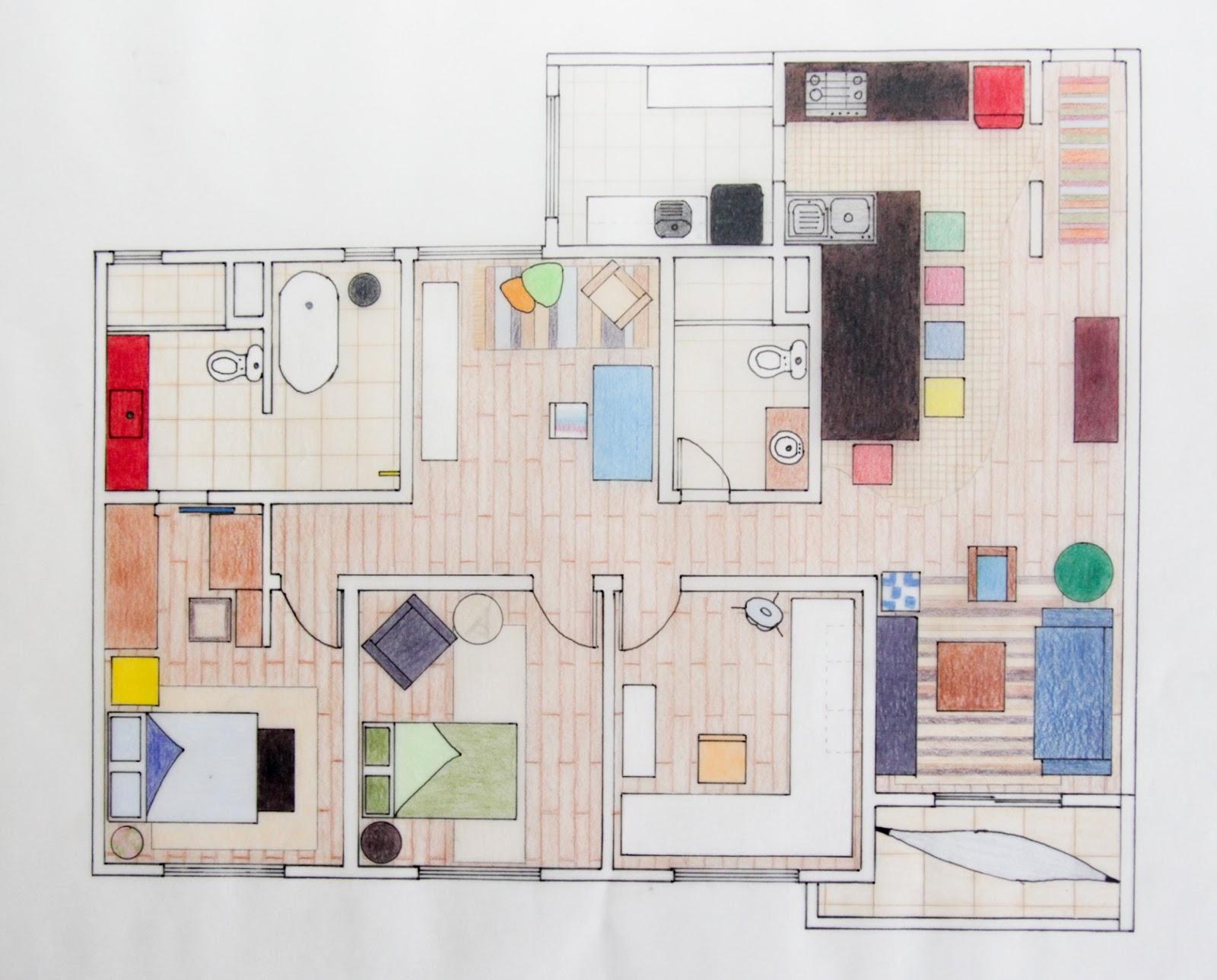 Projeto residencial Apartamento 110 m² Portfólio Design de  #B81327 1600 1288