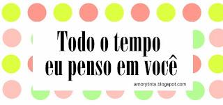 todo el tiempo pienso en ti en portugues