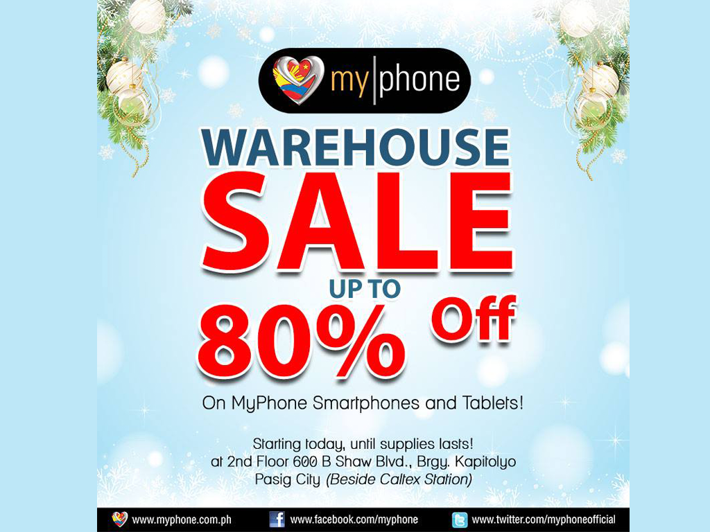 Sale Alert! MyPhone Warehouse Sale, Get up to 80% off!