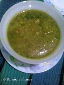 matar ki daal | green peas soup