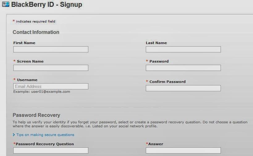 Cara Membuat Blackberry ID Untuk BBM Android