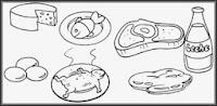 Dibujos de Alimentos Constructores 2