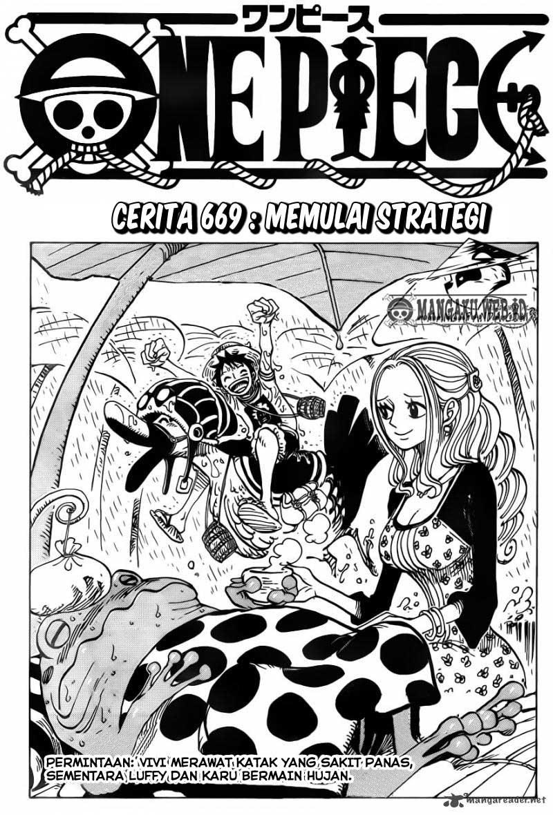 01 One Piece 669   Memulai Strategi