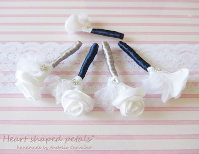 fabric flower boutonnieres